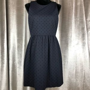 J. Crew Black Polka Dot Dress Medium